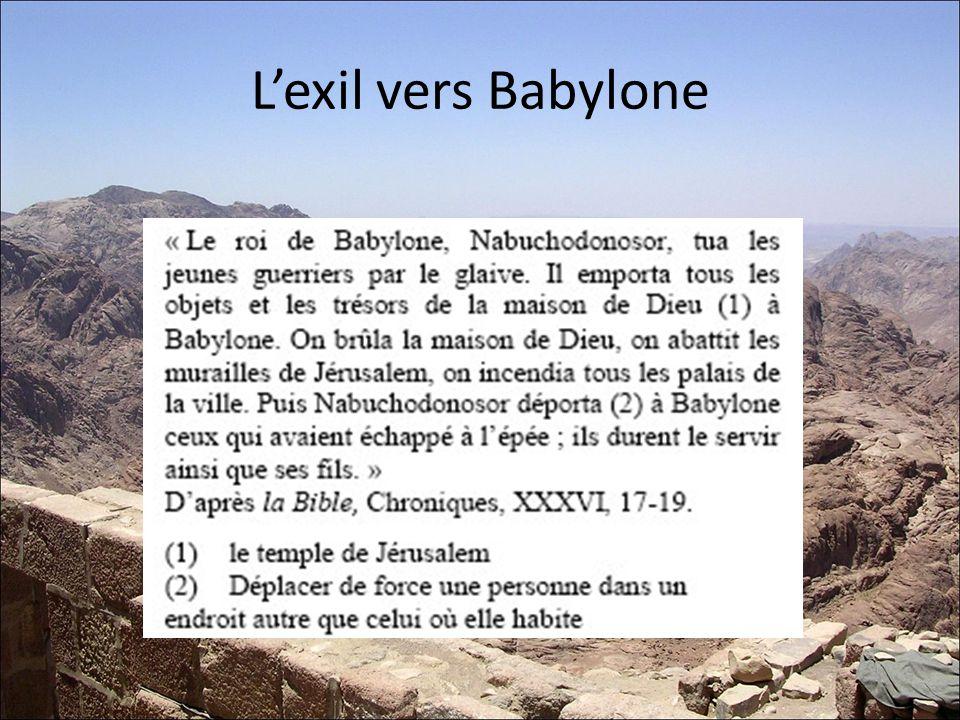 L'exil vers Babylone