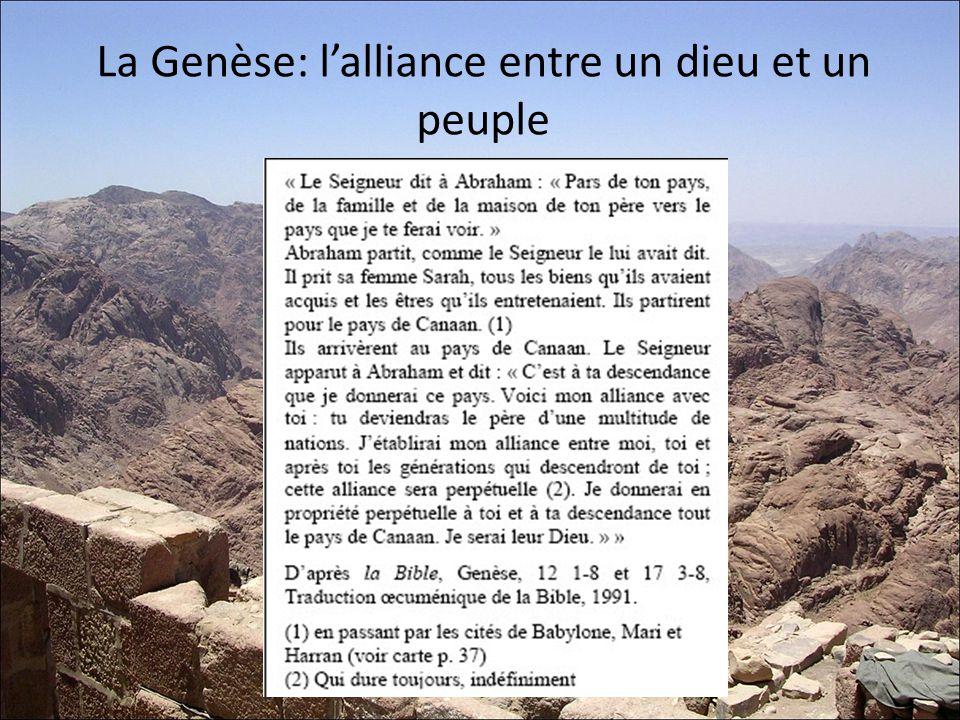 La Genèse: l'alliance entre un dieu et un peuple