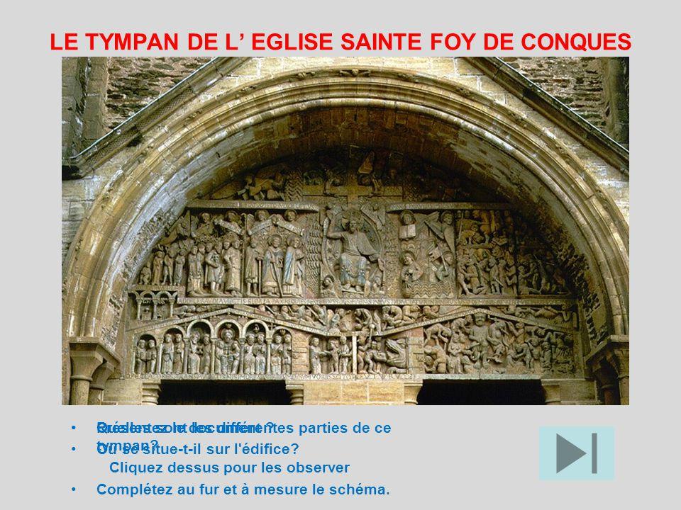 LE TYMPAN DE L' EGLISE SAINTE FOY DE CONQUES