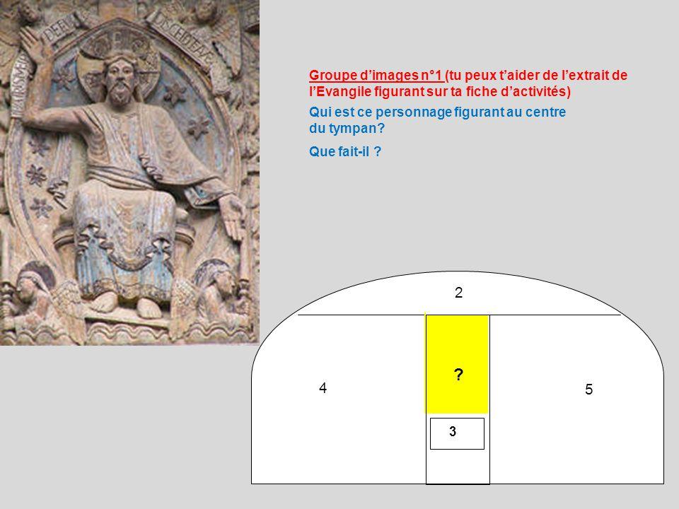 Groupe d'images n°1 (tu peux t'aider de l'extrait de l'Evangile figurant sur ta fiche d'activités)