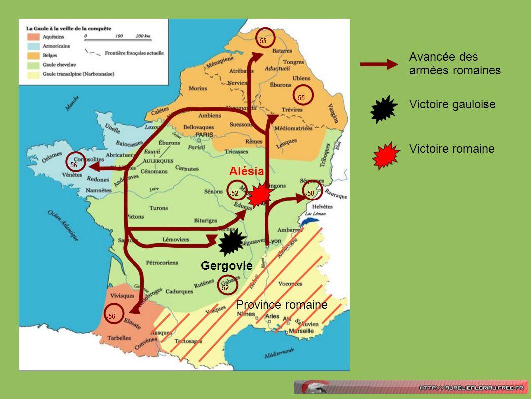 Avancée des armées romaines