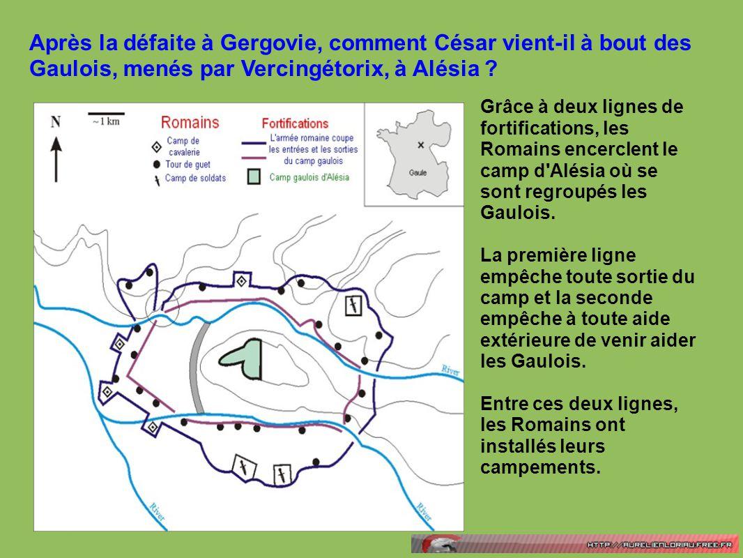 Après la défaite à Gergovie, comment César vient-il à bout des Gaulois, menés par Vercingétorix, à Alésia