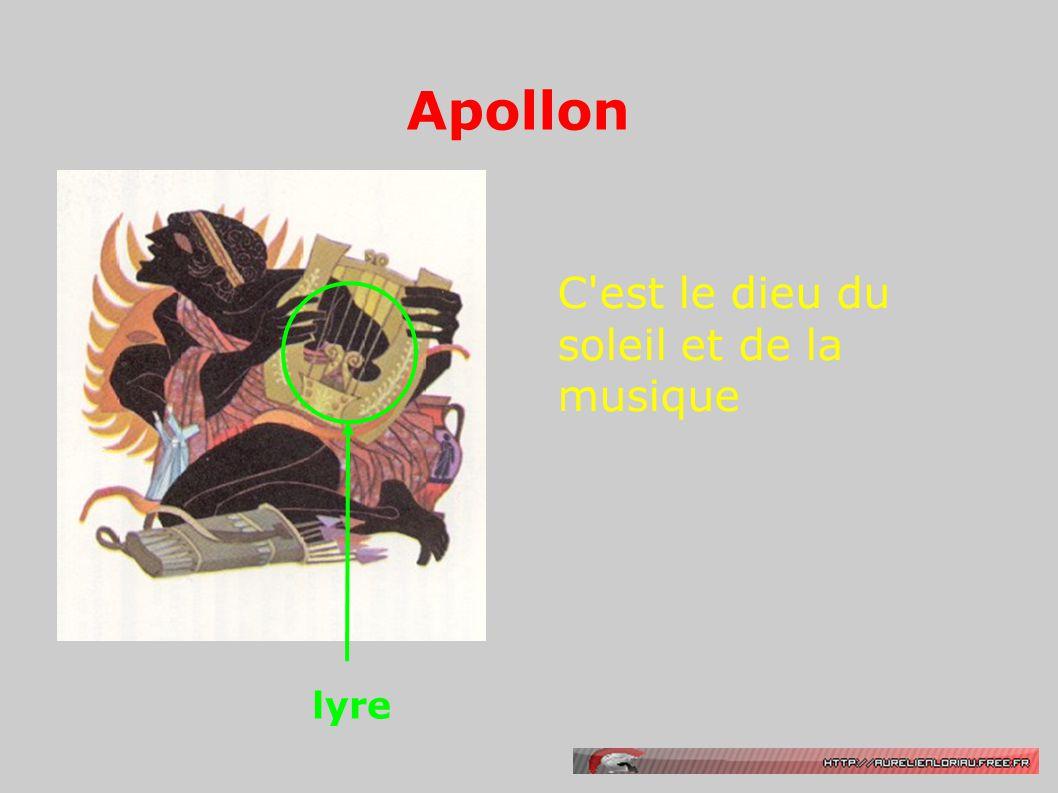Apollon C est le dieu du soleil et de la musique lyre