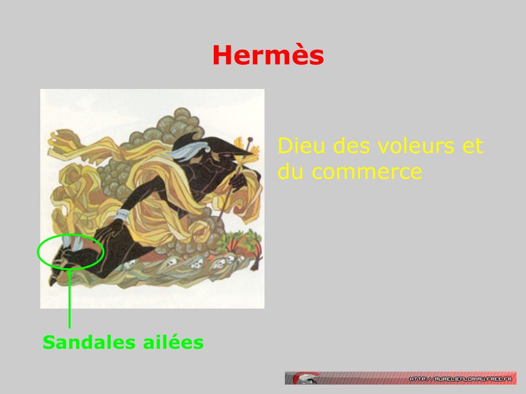 Hermès Dieu des voleurs et du commerce Sandales ailées