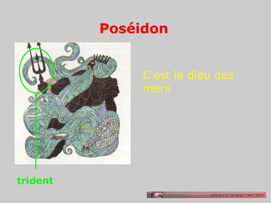 Poséidon trident C est le dieu des mers