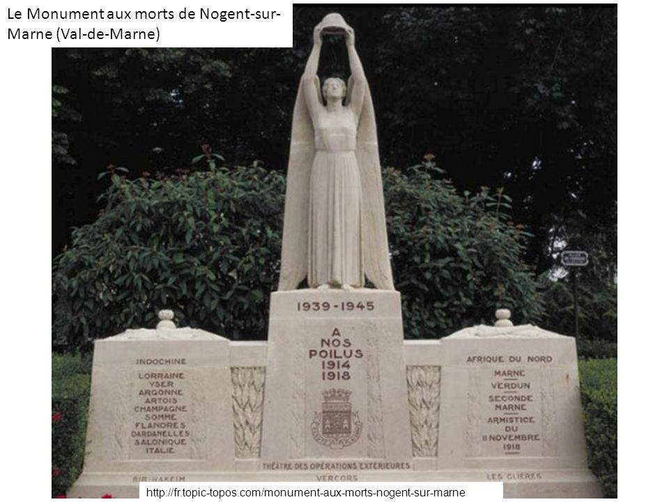 Le Monument aux morts de Nogent-sur-Marne (Val-de-Marne)