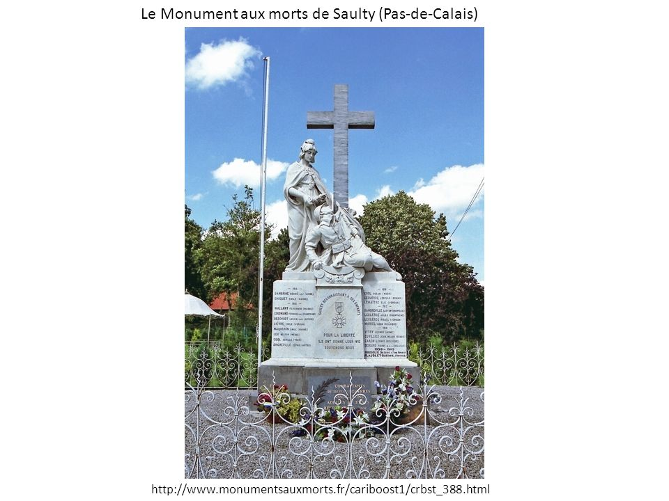 Le Monument aux morts de Saulty (Pas-de-Calais)