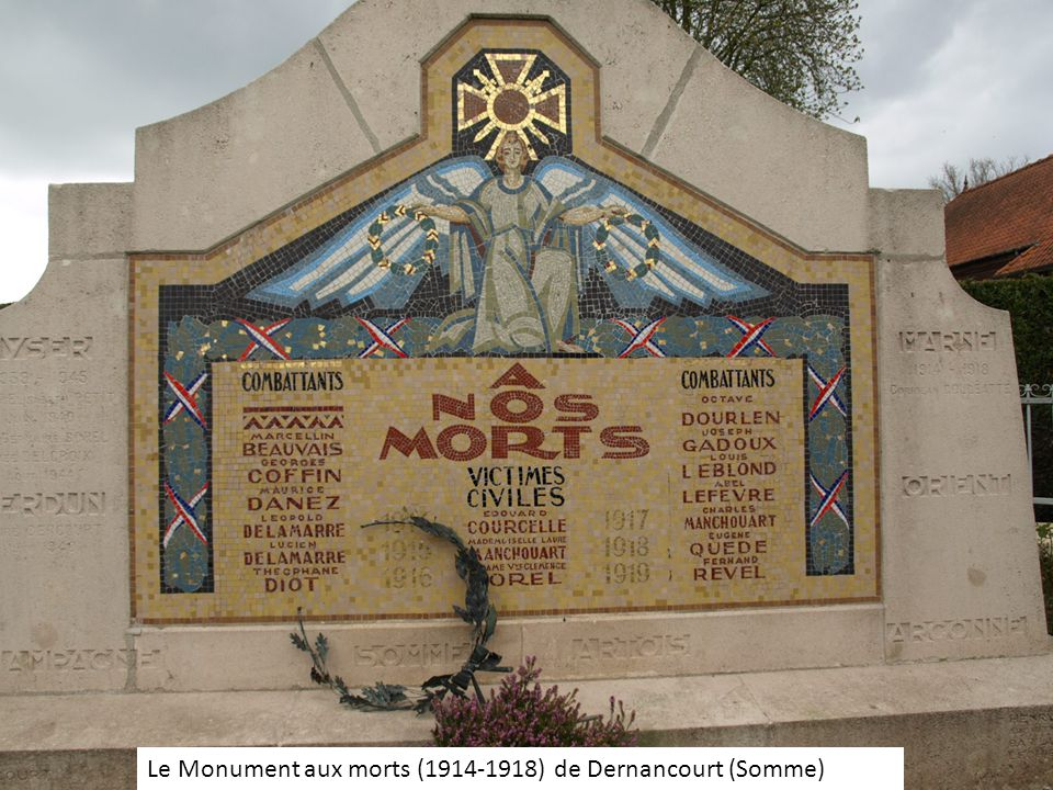 Le Monument aux morts (1914-1918) de Dernancourt (Somme)