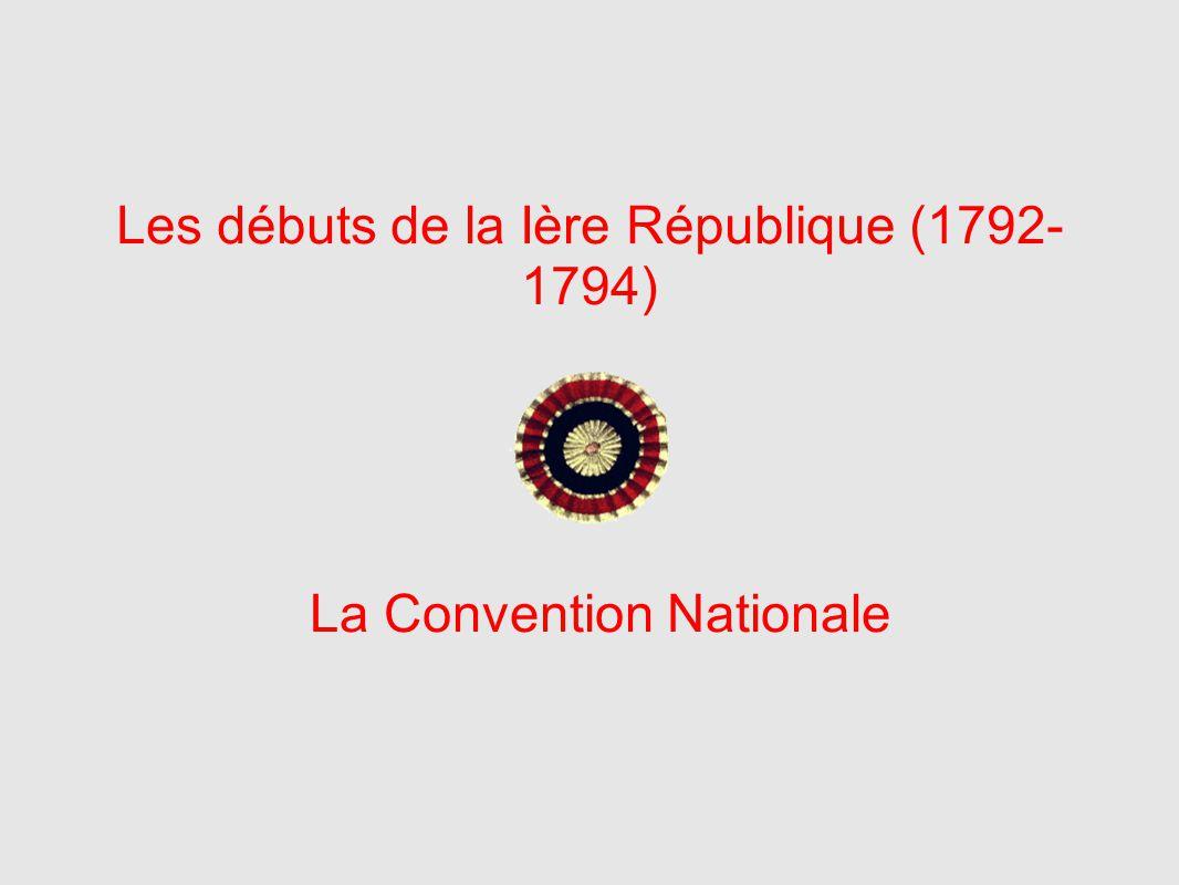 Les débuts de la Ière République (1792-1794)