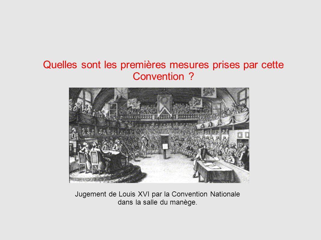 Quelles sont les premières mesures prises par cette Convention