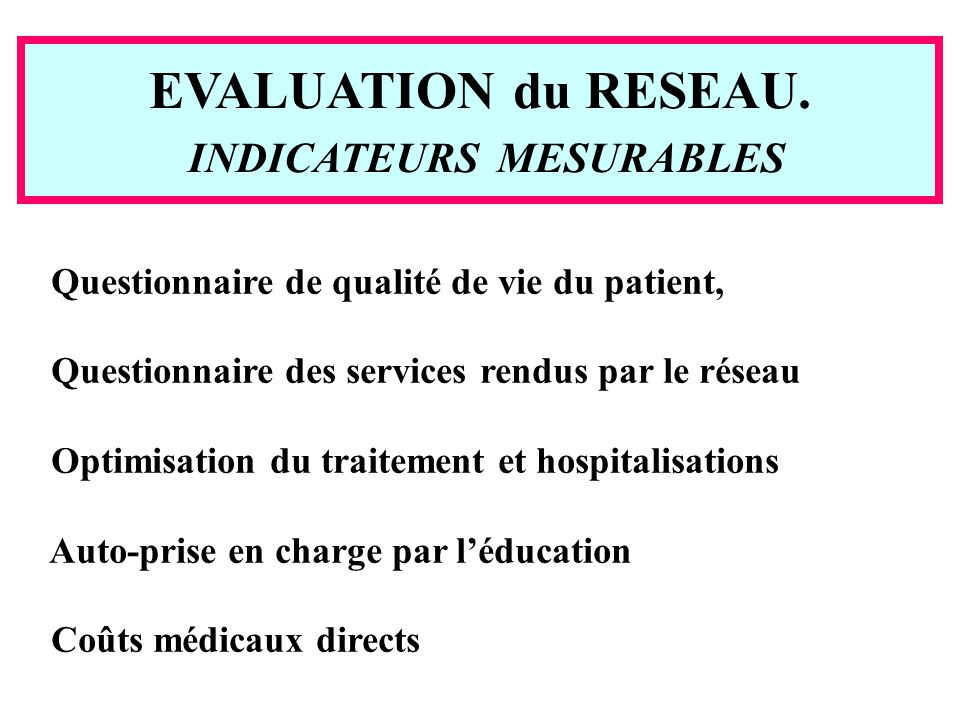 INDICATEURS MESURABLES