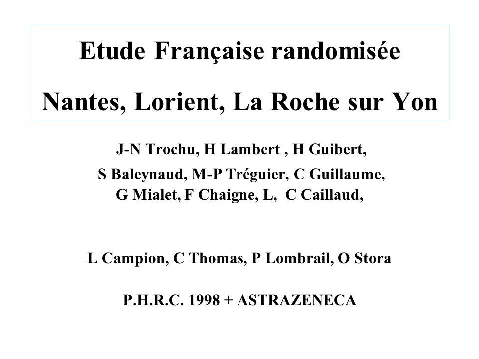 Etude Française randomisée Nantes, Lorient, La Roche sur Yon