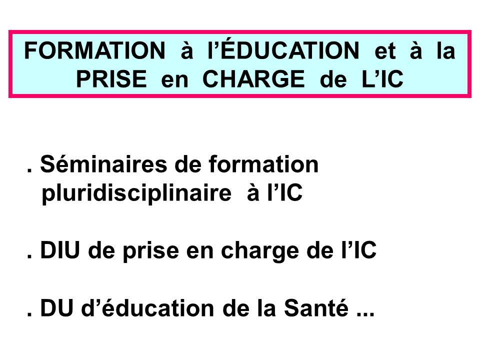 FORMATION à l'ÉDUCATION et à la PRISE en CHARGE de L'IC