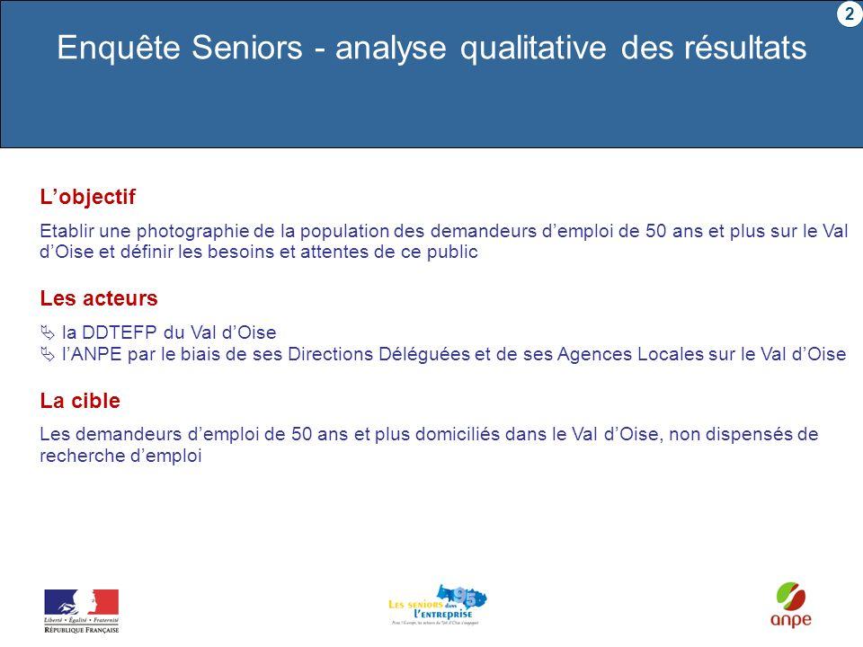 Enquête Seniors - analyse qualitative des résultats
