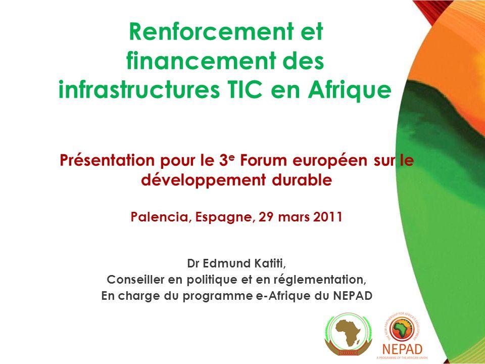 Renforcement et financement des infrastructures TIC en Afrique