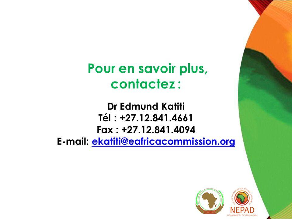 Pour en savoir plus, contactez : E-mail: ekatiti@eafricacommission.org
