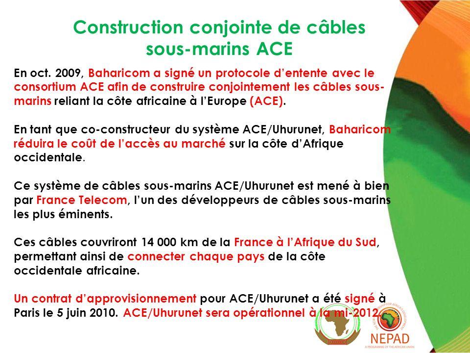 Construction conjointe de câbles sous-marins ACE