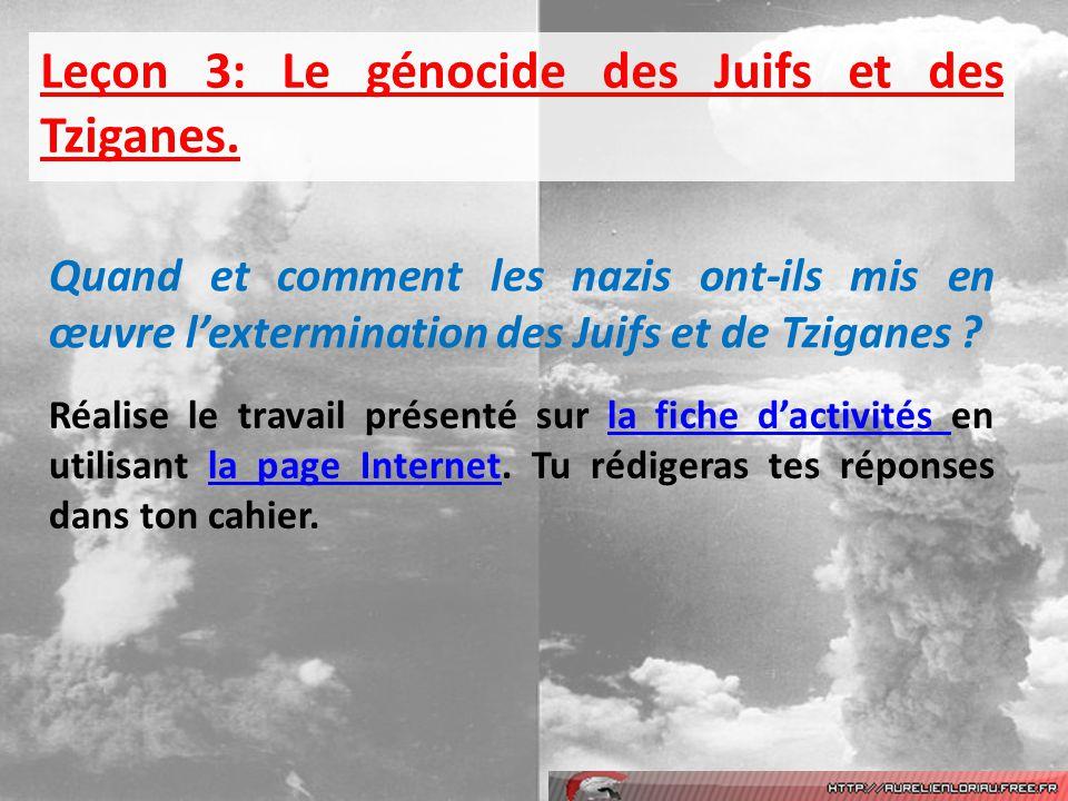 Leçon 3: Le génocide des Juifs et des Tziganes.