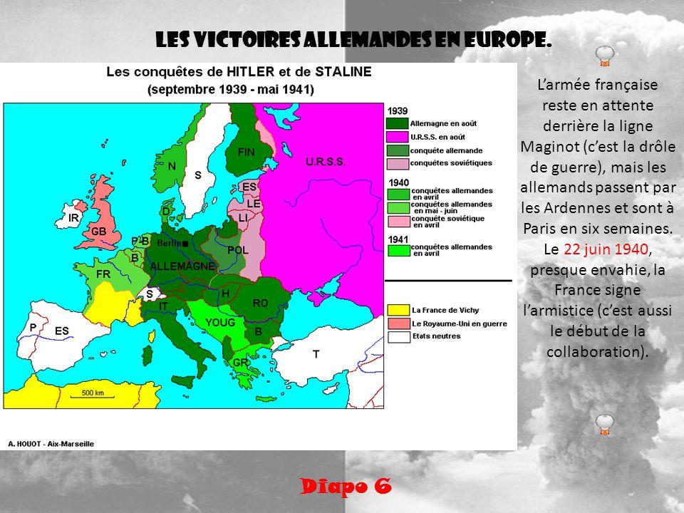 Les victoires allemandes en Europe.