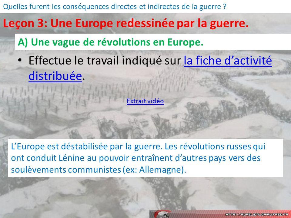 Leçon 3: Une Europe redessinée par la guerre.
