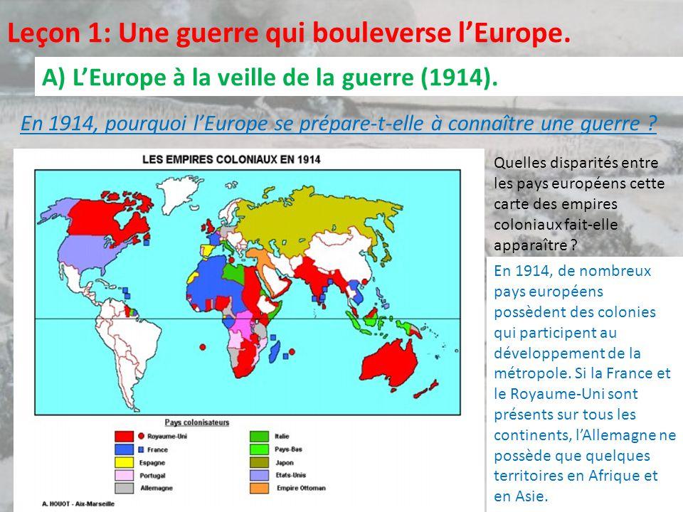 Leçon 1: Une guerre qui bouleverse l'Europe.