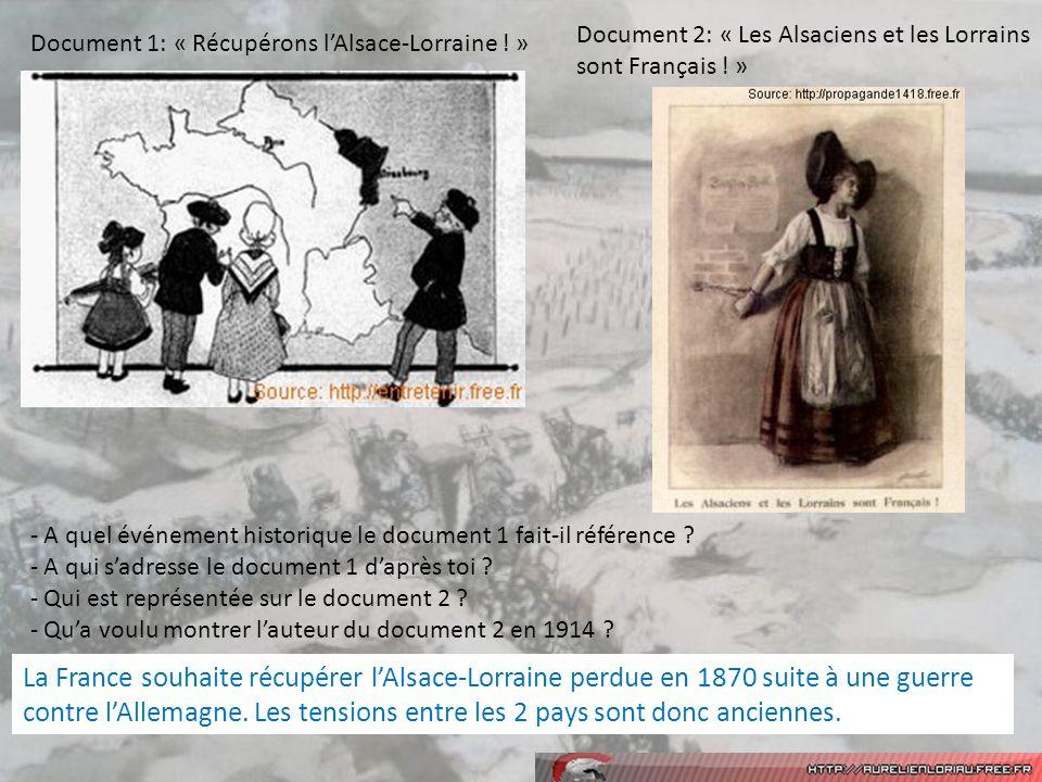 Document 2: « Les Alsaciens et les Lorrains sont Français ! »