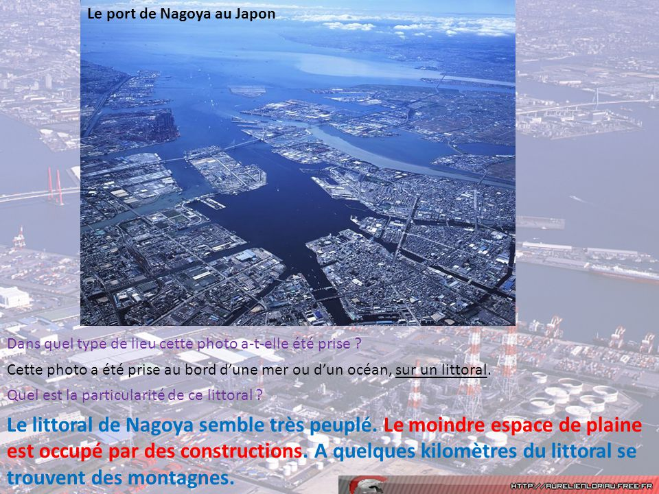 Le port de Nagoya au Japon