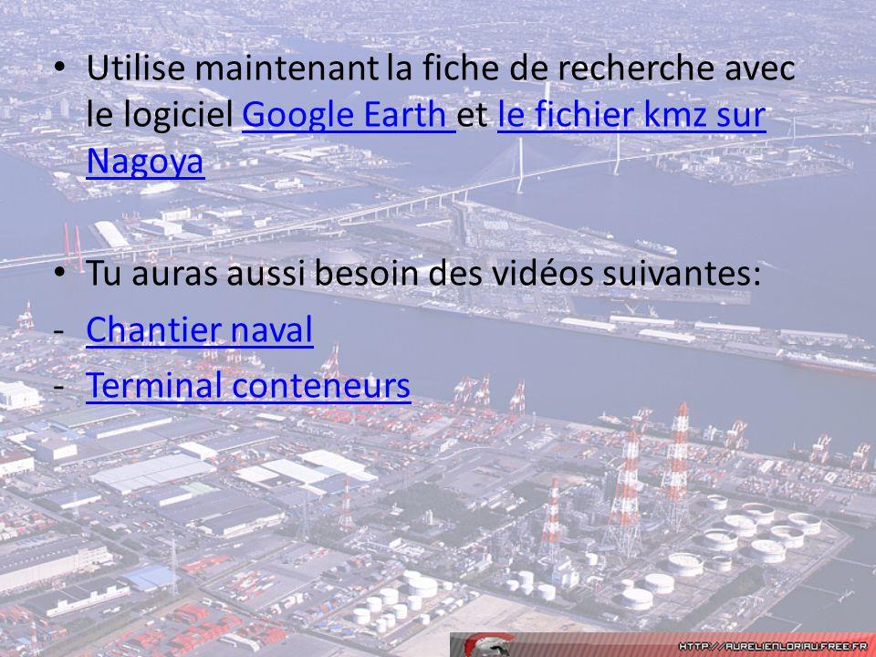 Utilise maintenant la fiche de recherche avec le logiciel Google Earth et le fichier kmz sur Nagoya