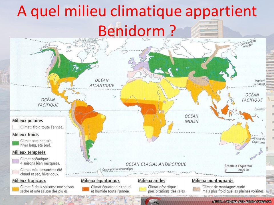 A quel milieu climatique appartient Benidorm