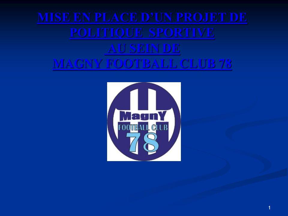 MISE EN PLACE D'UN PROJET DE POLITIQUE SPORTIVE AU SEIN DE MAGNY FOOTBALL CLUB 78