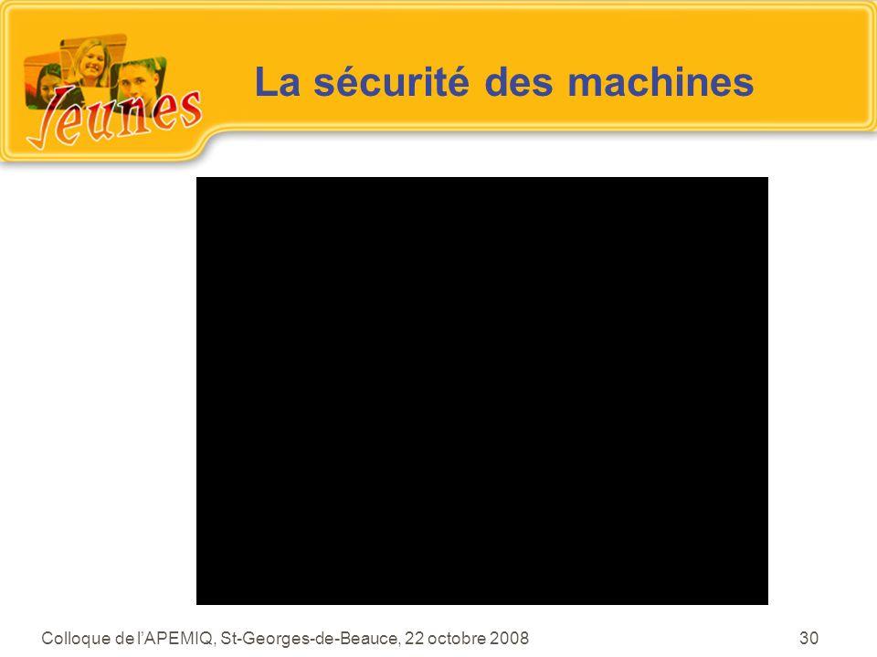La sécurité des machines