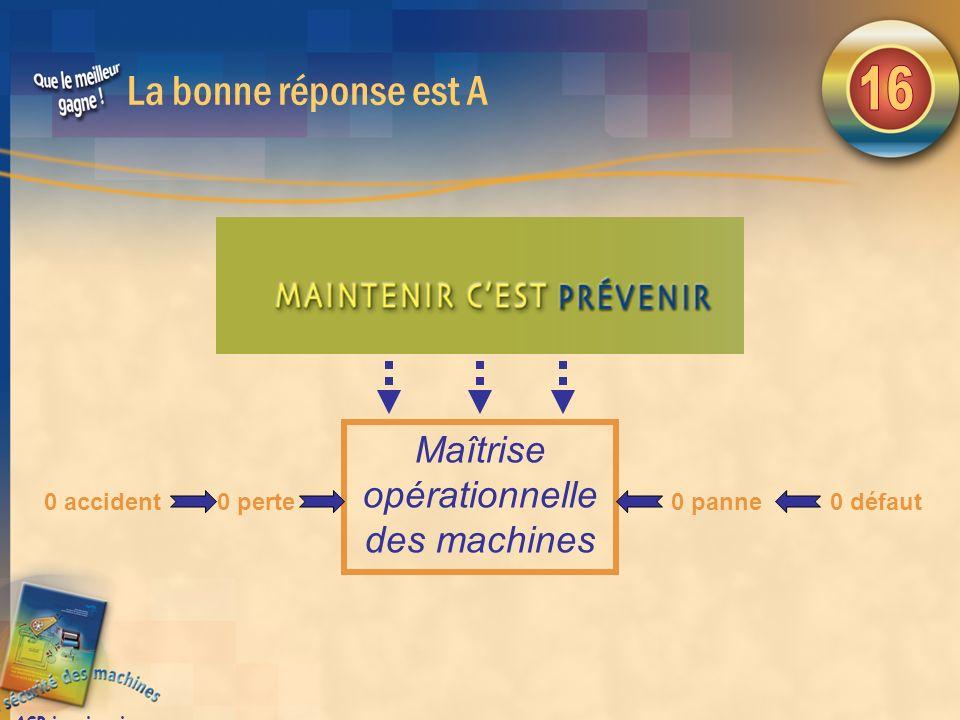 Maîtrise opérationnelle des machines