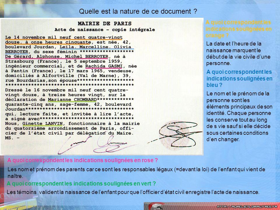 Quelle est la nature de ce document