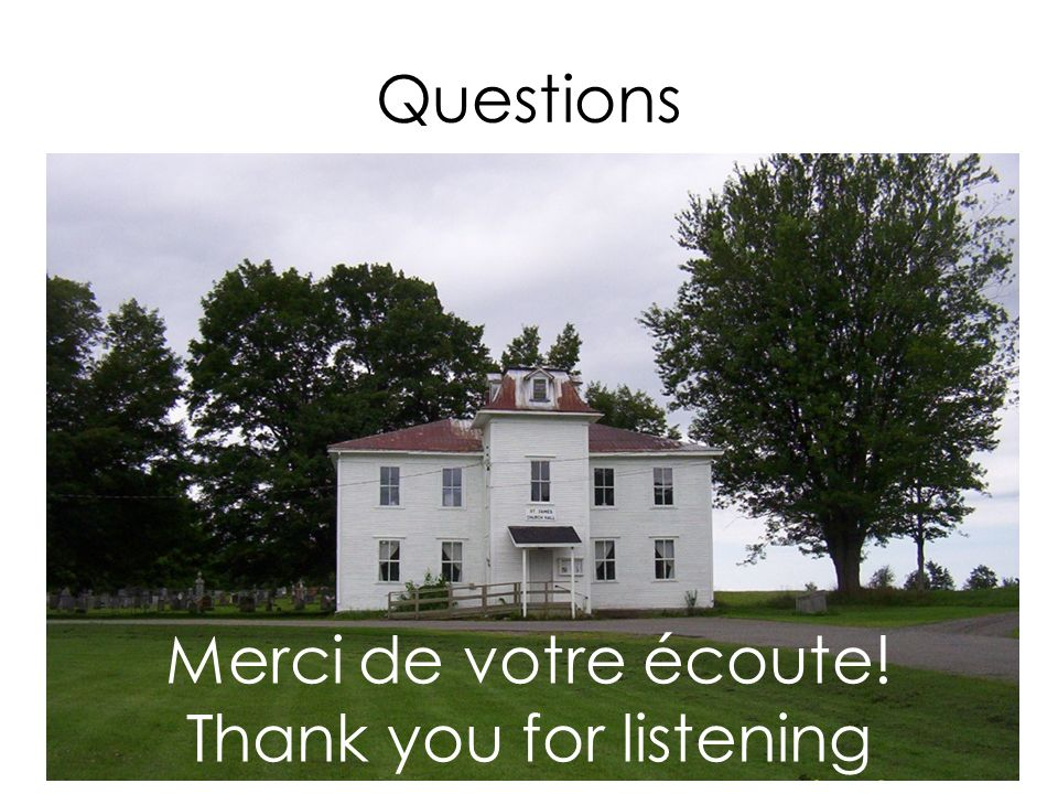 Merci de votre écoute! Thank you for listening