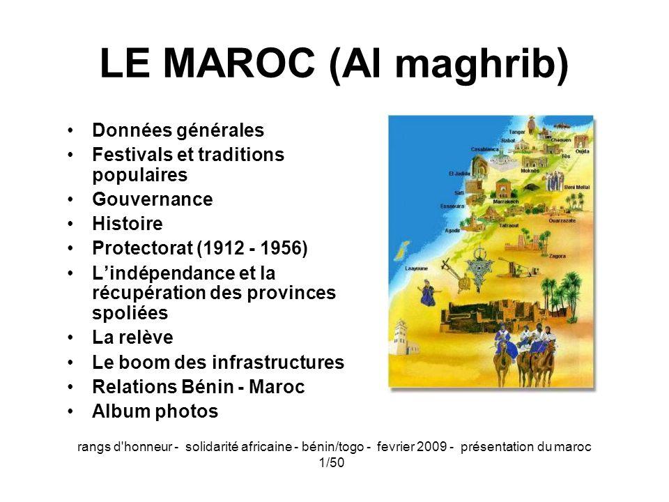 LE MAROC (Al maghrib) Données générales