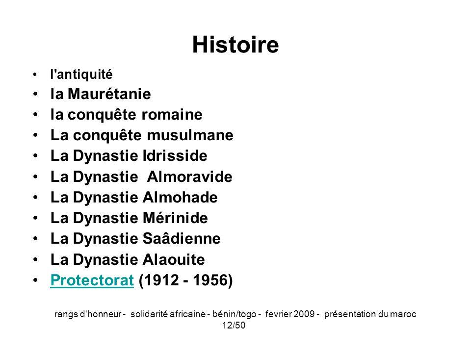 Histoire la Maurétanie la conquête romaine La conquête musulmane