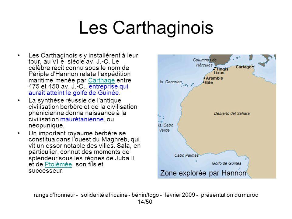 Les Carthaginois Zone explorée par Hannon