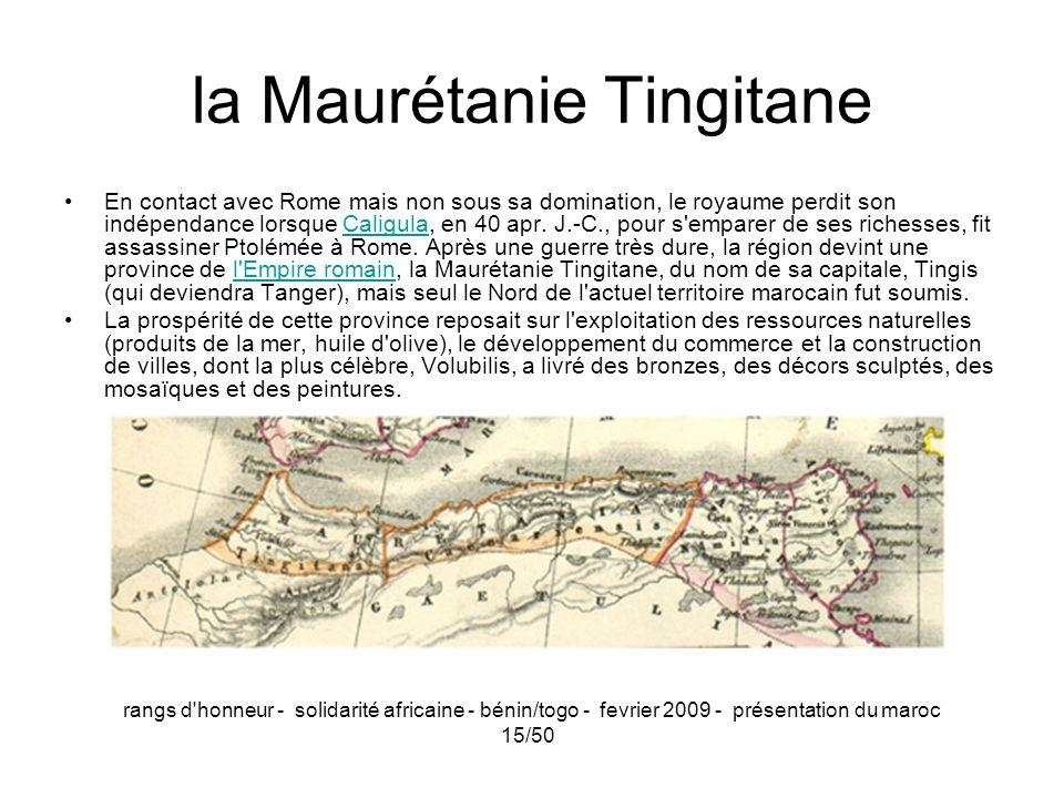 la Maurétanie Tingitane