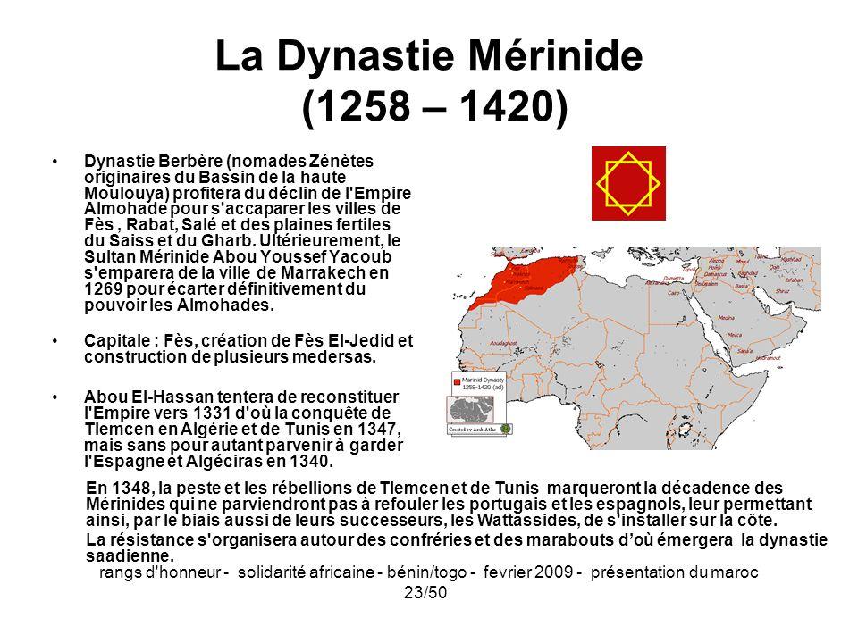 La Dynastie Mérinide (1258 – 1420)