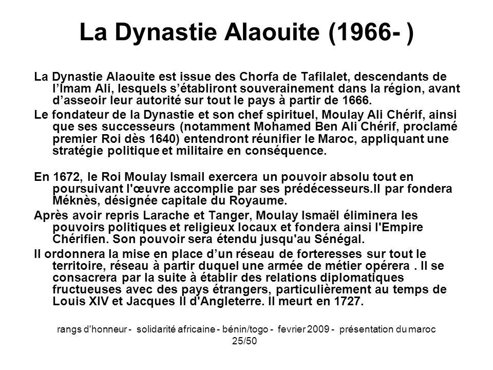 La Dynastie Alaouite (1966- )