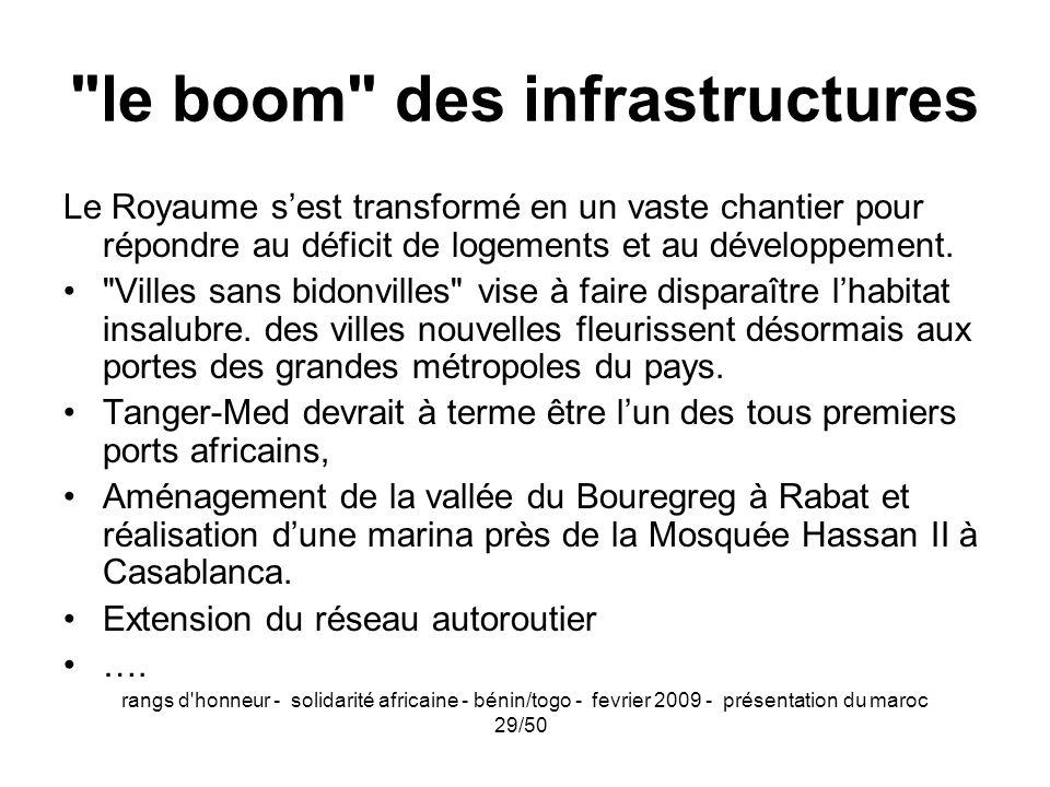 le boom des infrastructures