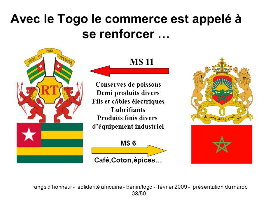 Avec le Togo le commerce est appelé à se renforcer …