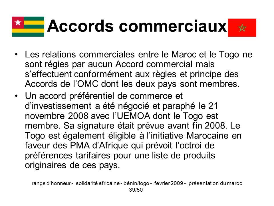 Accords commerciaux