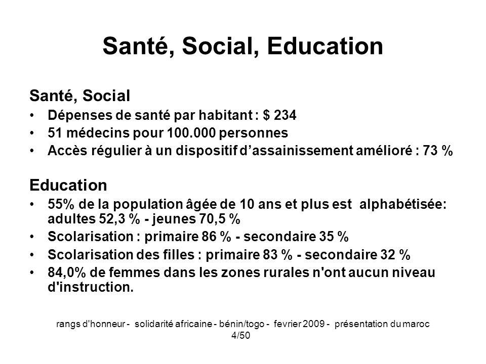 Santé, Social, Education