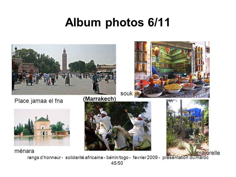 Album photos 6/11 souk (Marrakech) Place jamaa el fna ménara majorelle
