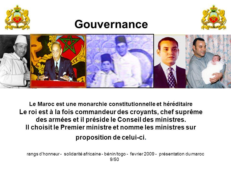 Le Maroc est une monarchie constitutionnelle et héréditaire
