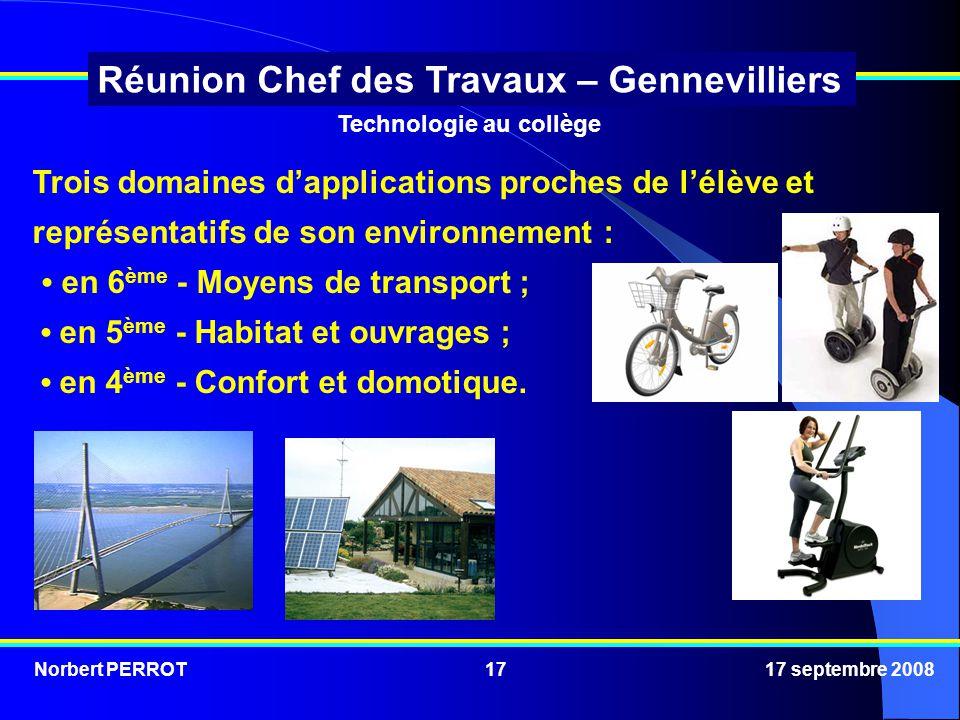 • en 6ème - Moyens de transport ; • en 5ème - Habitat et ouvrages ;
