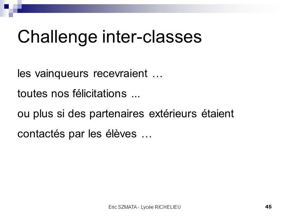 Challenge inter-classes