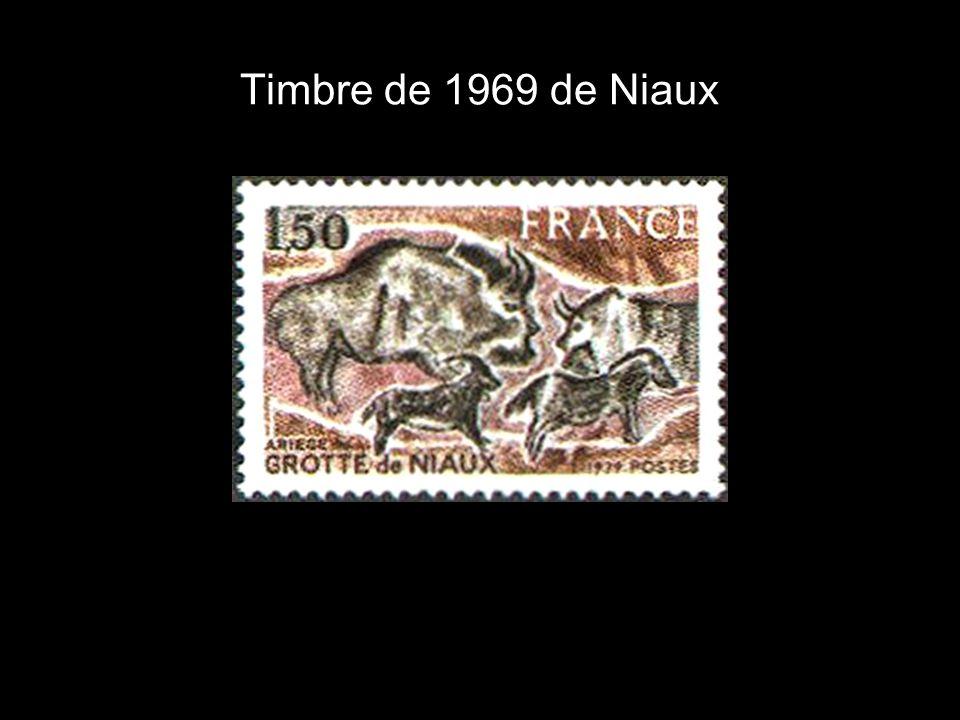 Timbre de 1969 de Niaux