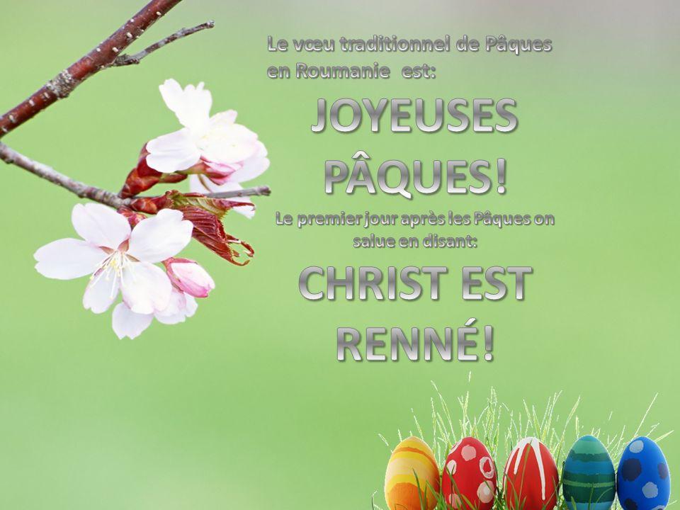 Le premier jour après les Pâques on salue en disant: